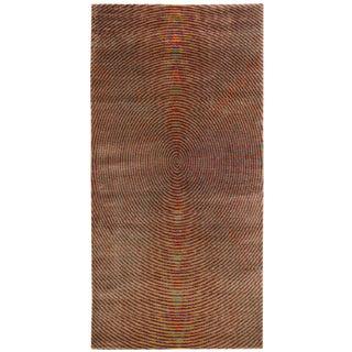 Contemporary 'Vibra' Silk Area Rug - 3' x 6' For Sale