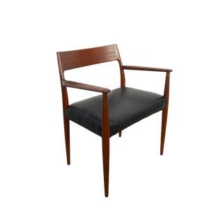 1960s Vintage Arne Hovmand-Olsen Made by Mogens Kold Teak Arm Chair For Sale