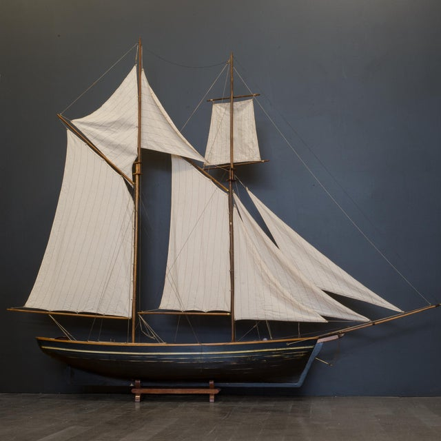 Early 20th C. Monumental Ship Model C. 1940 For Sale - Image 4 of 12