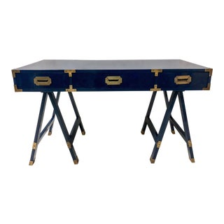 Lacquered Campaign Style Desk For Sale