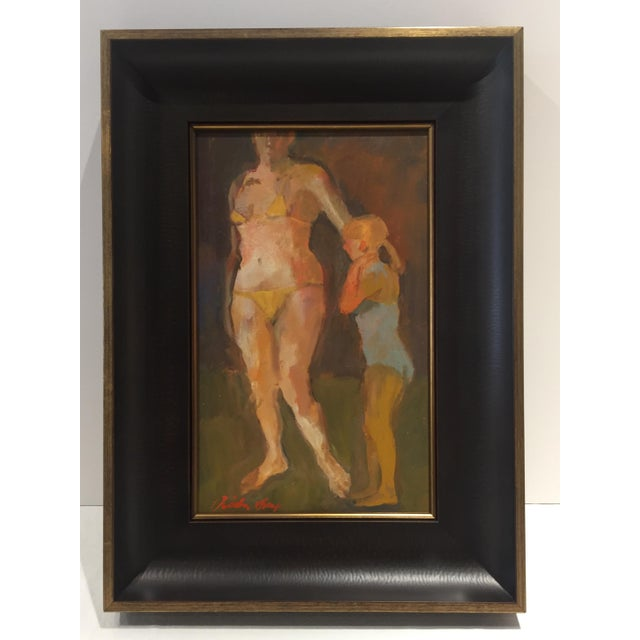 This contemporary painting is beautifully framed. Frame size is 15.75 x 21.75 in. Actual painting size is 10 x 16 in. oil...