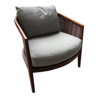 Modern McGuire Furniture Barrel Lounge Chair For Sale