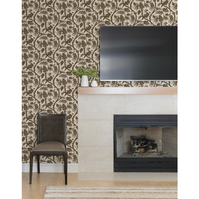Peel & Stick vinyl wallcovering. 6 yd, 30.75 square feet. Originally reproduced from a 19th Century French roller printed...
