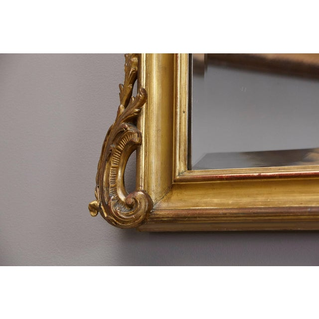 Brown 19th Century French Rococo Mirror With Beveled Glass For Sale - Image 8 of 11