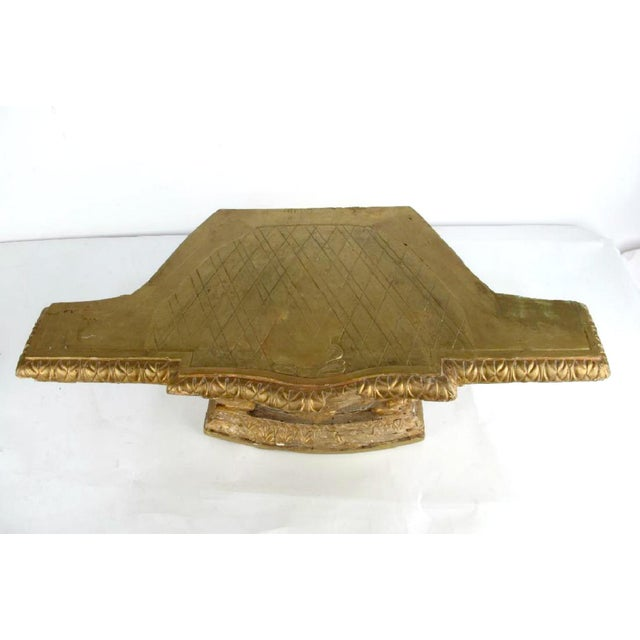 Louis XVI 18th Century French Louis XVI Period Carved Giltwood Alter Pedestal For Sale - Image 3 of 10