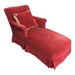 1960s Red Chaise Lounge For Sale