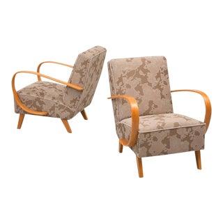 Jindrich Halabala Lounge Chairs - A Pair