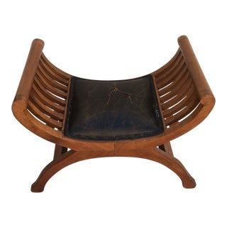 1970s Art Deco Revival Style Bench With Arms For Sale