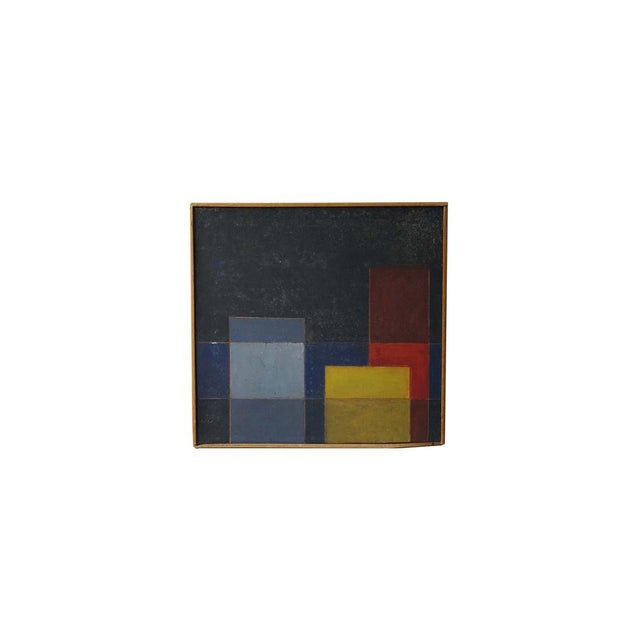 Wood Mid-Century Abstract Painting For Sale - Image 7 of 7