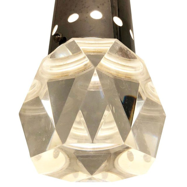 Mid 20th Century Facted Lucite Shade Stilnovo Pendant For Sale In New York - Image 6 of 7