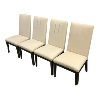 Heritage Traditional Monogrammed Chairs- Set of 4 For Sale