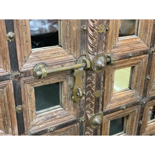 Asian 18th Century Mughal Empire Wood Doors-a Pair For Sale - Image 3 of 7