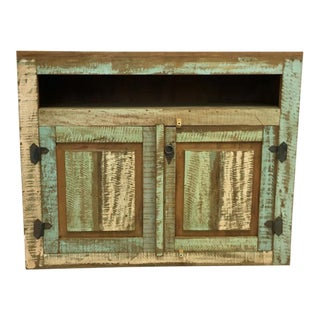 Tara Reclaimed Wood Console Cabinet For Sale