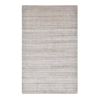 Sanam, Contemporary Solid Hand Loomed Area Rug, Light Brown, 8 X 10 For Sale