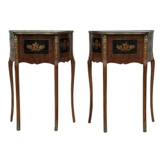 1980s French Style Ormolu Tables - a Pair For Sale