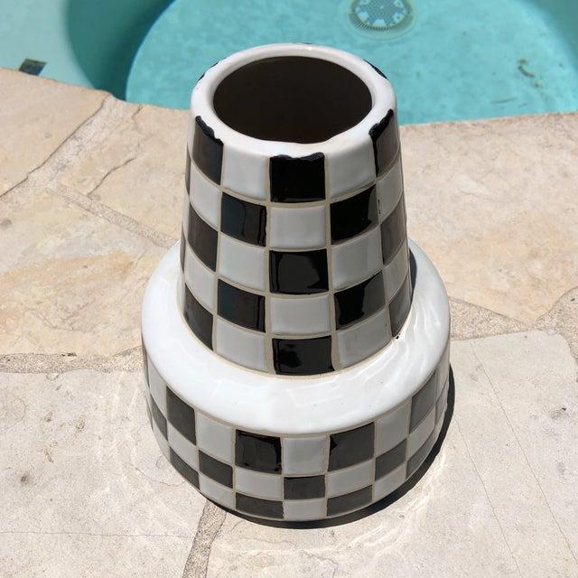85338f0aef3e Modern Modern Black   White Checkered Vase For Sale - Image 3 ...