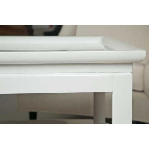 Mid-Century Table in White Lacquer - Image 6 of 7