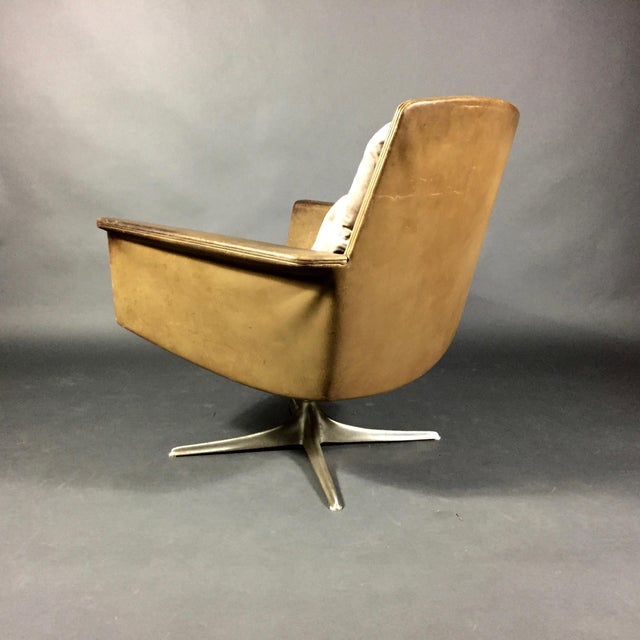 "Horst Bruning ""Sedia"" Leather Armchair by Horst Brüning for Cor Germany 1966 For Sale - Image 4 of 10"