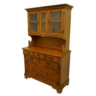 Vintage Tell City Colonial Style Maple Display Cabinet With Hutch Preview
