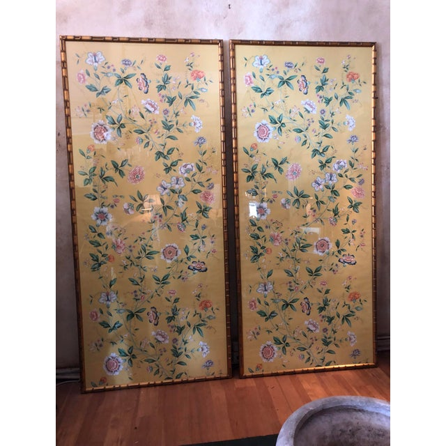 1970s Vintage Framed Gracie Wallpaper Panels - A Pair For Sale - Image 13 of 13