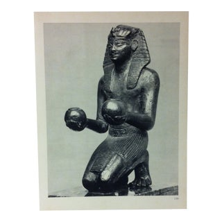 """Circa 1970 """"Pharaoh Thutmose IV"""" Great Sculpture of Ancient Egypt Print For Sale"""