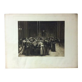 """Antique Photogravure on Paper, """"At Monte Carlo"""" from D. Appleton & Co - Circa 1860 For Sale"""