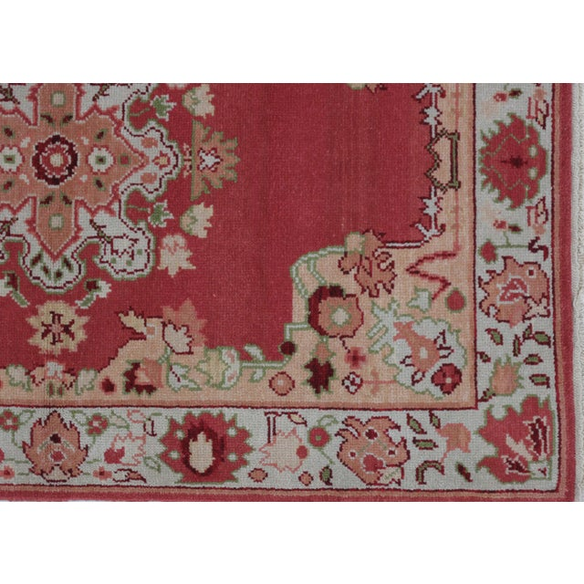 Turkish Oushak Design Hand Woven Wool Rug - 4' X 6' - Image 3 of 5