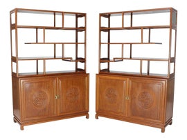 Image of Teak Bookcases and Étagères