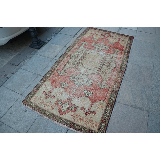 Bohemian Floor Wool Rug - 3′6″ × 7′4″ - Image 3 of 6