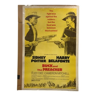 """Columbia Pictures """"Buck and the Preacher"""" Vintage Movie Poster"""