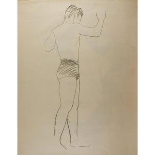 Line Drawing Male Figure Study For Sale