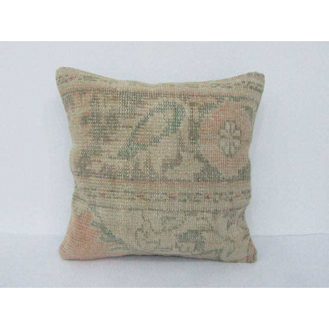 Vintage Turkish Washed Out Decorative Pillow Cover For Sale - Image 4 of 4