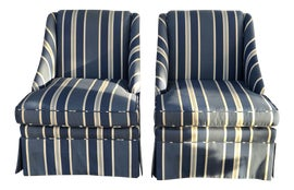 Image of Fabric Club Chairs