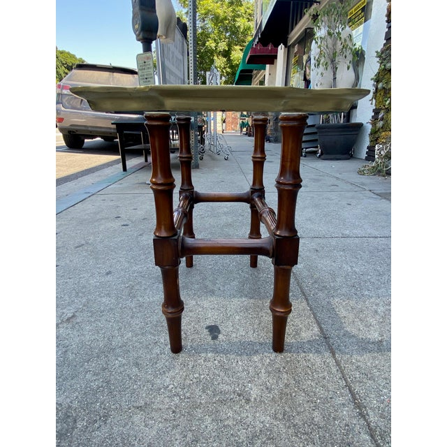 Mid-Century Modern Vintage Gilded Moroccan End Table Pair For Sale - Image 3 of 10