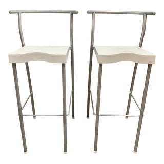 Kartell Philippe Starck Hi-Glob Barstools- a Pair For Sale