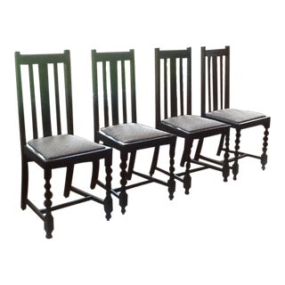 Mission Oak Dining Room Chairs - Set of 4