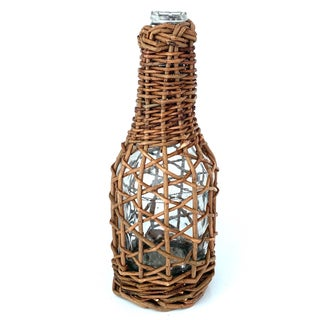 1970's Vintage Wicker Wrapped Glass Bottle Preview