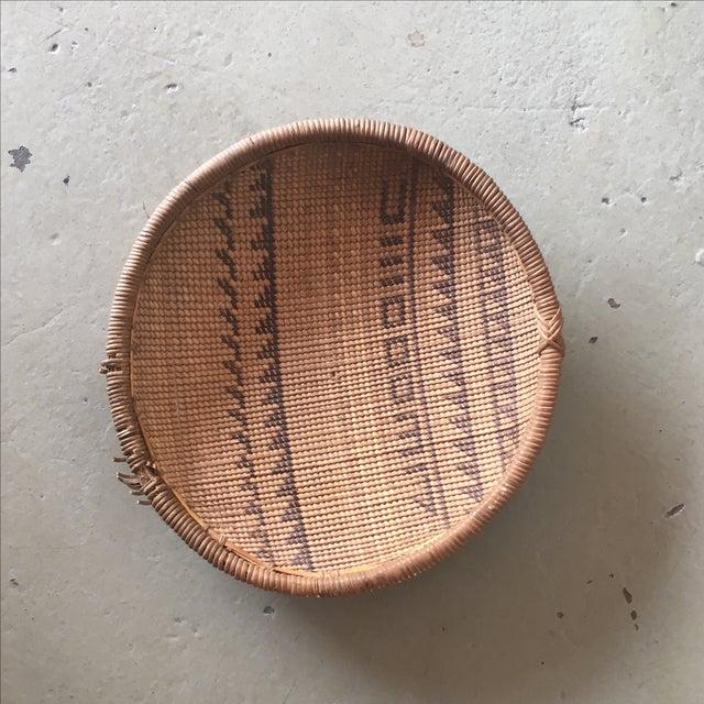 Woven Tribal Wall Basket - Image 2 of 5