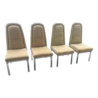 1960s Vintage Charles Hollis Jones Lucite Chairs - Set of 4 For Sale