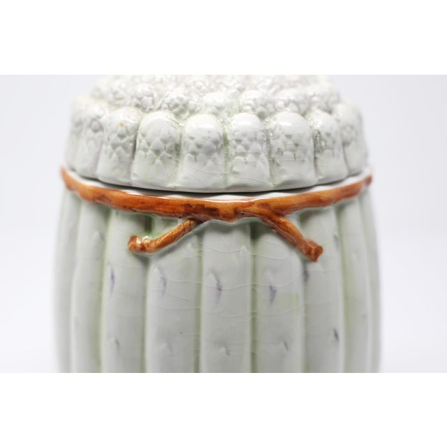 Vintage Italian White Asparagus Jar or Canister For Sale In Tampa - Image 6 of 13