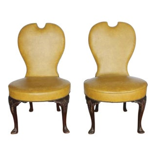 Early 20th Century Vintage American Library Chairs- A Pair For Sale
