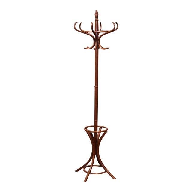 Mid-20th Century French Bentwood Swivel Coat Stand or Hat Rack Thonet Style For Sale