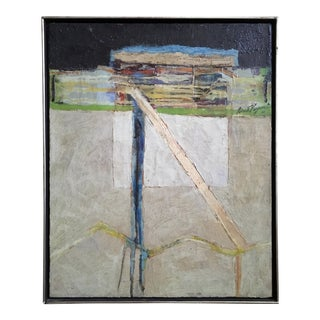 """""""Configuration 2"""" Oil Painting by Robert G. Keyser 1961 For Sale"""