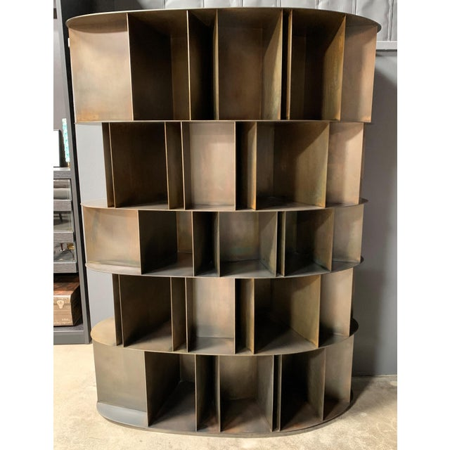 Metal Existence Metal Bookcase by DeCastelli For Sale - Image 7 of 7