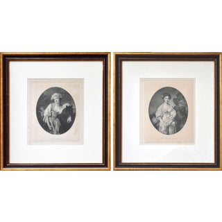 French Etchings of Portraits by Jean Baptiste Greuze-Pair