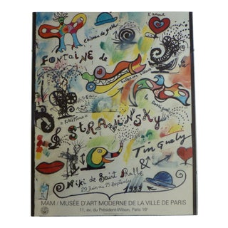 Niki De Saint Phalle Abstract French Post Modernist Museum Exhibition Poster