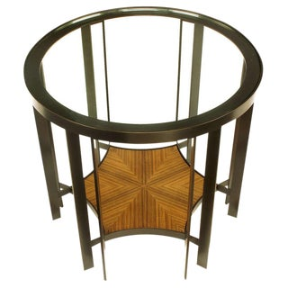 Joe Jeup for Donghia Bronze and Macassar Ebony Center or End Table For Sale