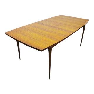 Broyhill Brasilia Refinished Walnut Dining Table With Leaf