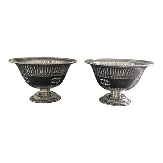 1940s Vintage Barker Ellis Silverplate Footed Bowls/Compotes - a Pair For Sale