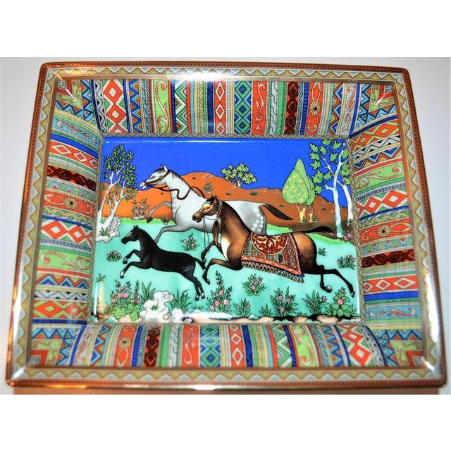 Blue (Final Markdown) Hermès Vintage Prancing Horse Cigar Tray For Sale - Image 8 of 10